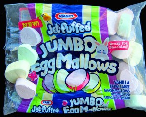 Jef Puffed marshmallow eggs