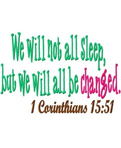 we will not all sleep